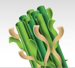 fibras concavas cesped artificial